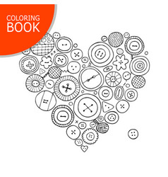 Buttons collection heart shape page for your vector