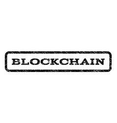 Blockchain watermark stamp vector