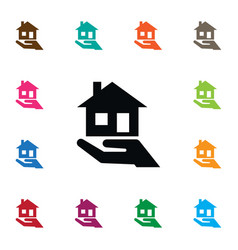 Isolated mortgage icon purchase realtor vector