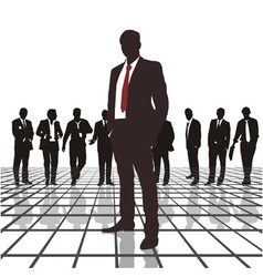 Traders headed by the chief vector image