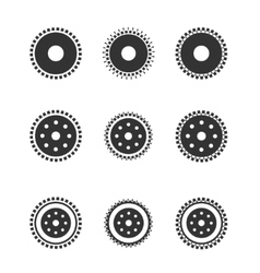 Gear wheels isolated on light background vector
