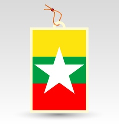 Burmese made in tag vector