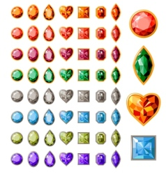 Collection of different jewels vector