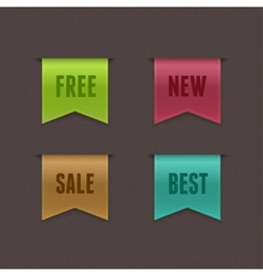 Free New Sale Best Ribbons vector image