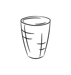 Glass on a white background vector