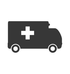 Ambulance icon medical care design vector