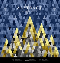 Abstract architecture concept colorful triangles vector