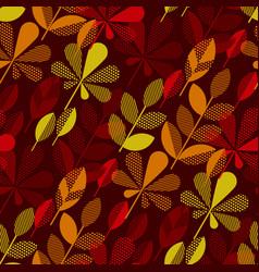 Autumn leaf fall geometry motif vector