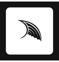 Black wing icon simple style vector