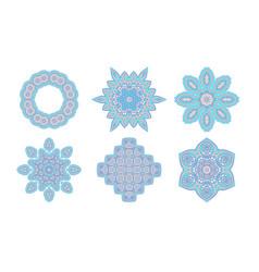 blue mandala set vector image vector image