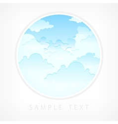 Blue sky in round vector image