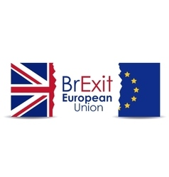 Brexit of the eruropean union design vector image vector image