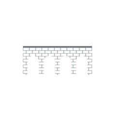 Brick arch bridge icon flat style vector