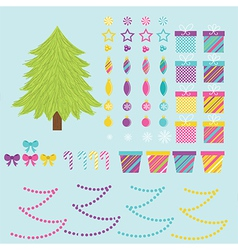 Build Your Own Christmas Tree vector image
