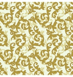 Golden baroque pattern vector image vector image