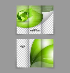 Green brochure vector image