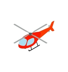 Helicopter icon isometric 3d style vector image vector image