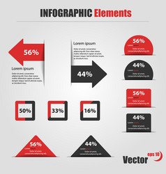 infographic elements information graphics vector image