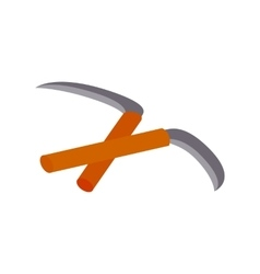 Kama weapon isometric 3d icon vector image vector image