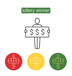 Lottery winner icon vector