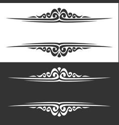 Monochrome borders vector