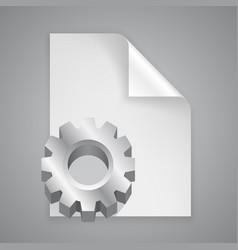 Paper symbol cogwheel vector
