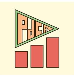 Pdca arrow chart vector