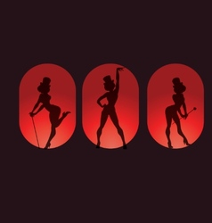 poster design with silhouette cabaret burlesque vector image