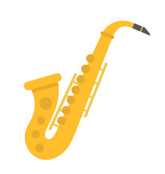 saxophone flat icon music and instrument vector image vector image