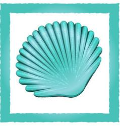 seashell blue vector image vector image