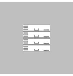 Server computer symbol vector