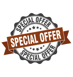 special offer stamp sign seal vector image vector image
