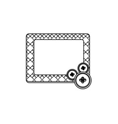 Sticker figures square framework icon vector