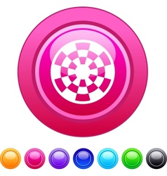 Target circle button vector image vector image