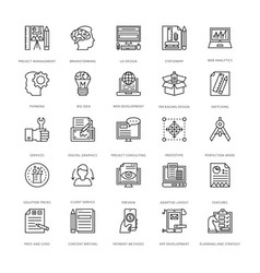 web design and development icons 5 vector image vector image