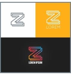 Letter z logo alphabet design icon background vector