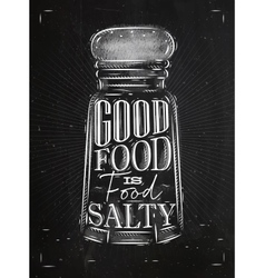 Poster salty food chalk vector