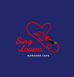 sing lovers karaoke abstract sign emblem vector image