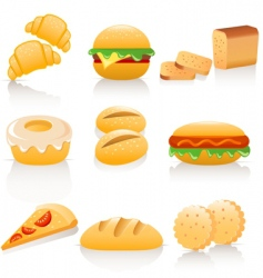 bread collection vector image