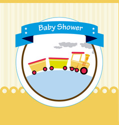 Baby shower design over beige background vector