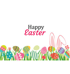 Happy easter egg background template vector