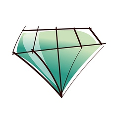 One diamond vector