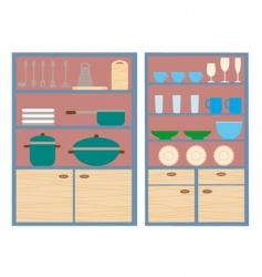 Kitchen closets vector