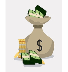 Money bag design vector