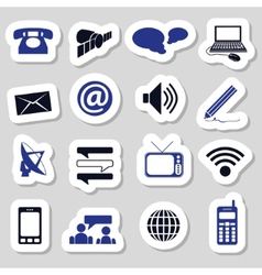 Communication stickers vector