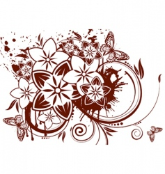 Flower theme vector