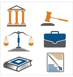 Justice and law icons vector