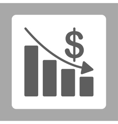 Recession icon vector