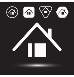 Houses icons set logos housing vector