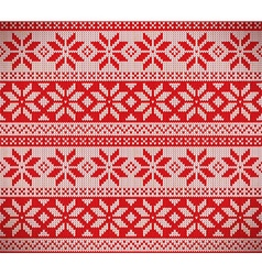 Christmas nordic seamless knitting vector